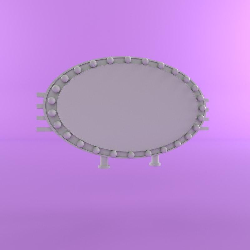3D cartoon mirror model