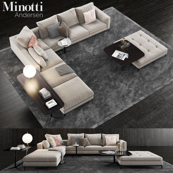 minotti andersen sofa 3D model