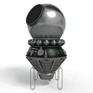 3D model vostok russian spacecraft