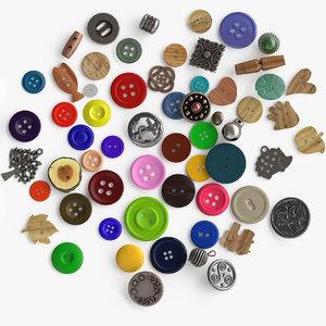 buttons e 3D model