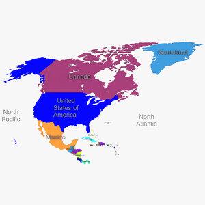 north america 3D