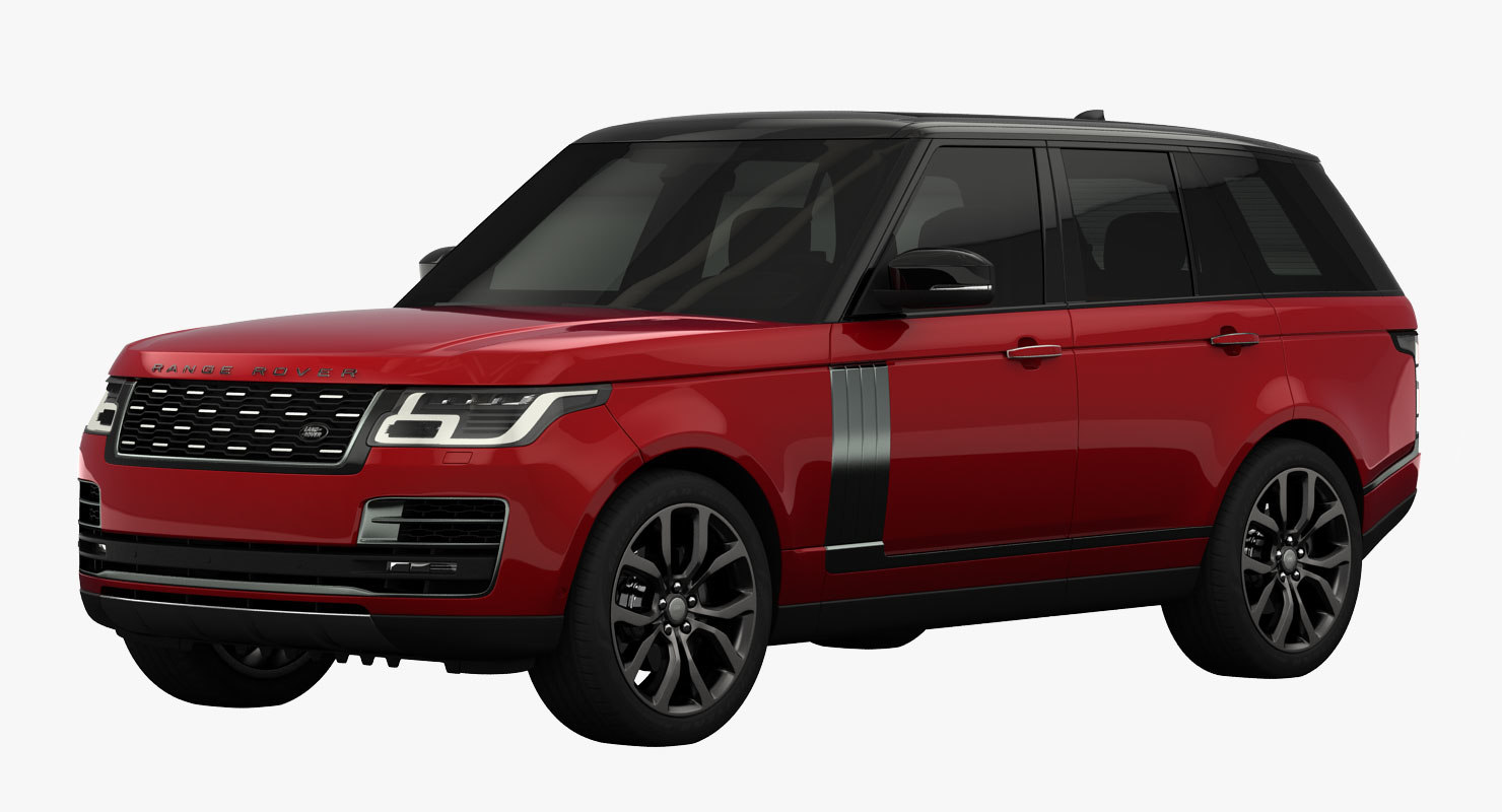3D model land rover range svautobiography