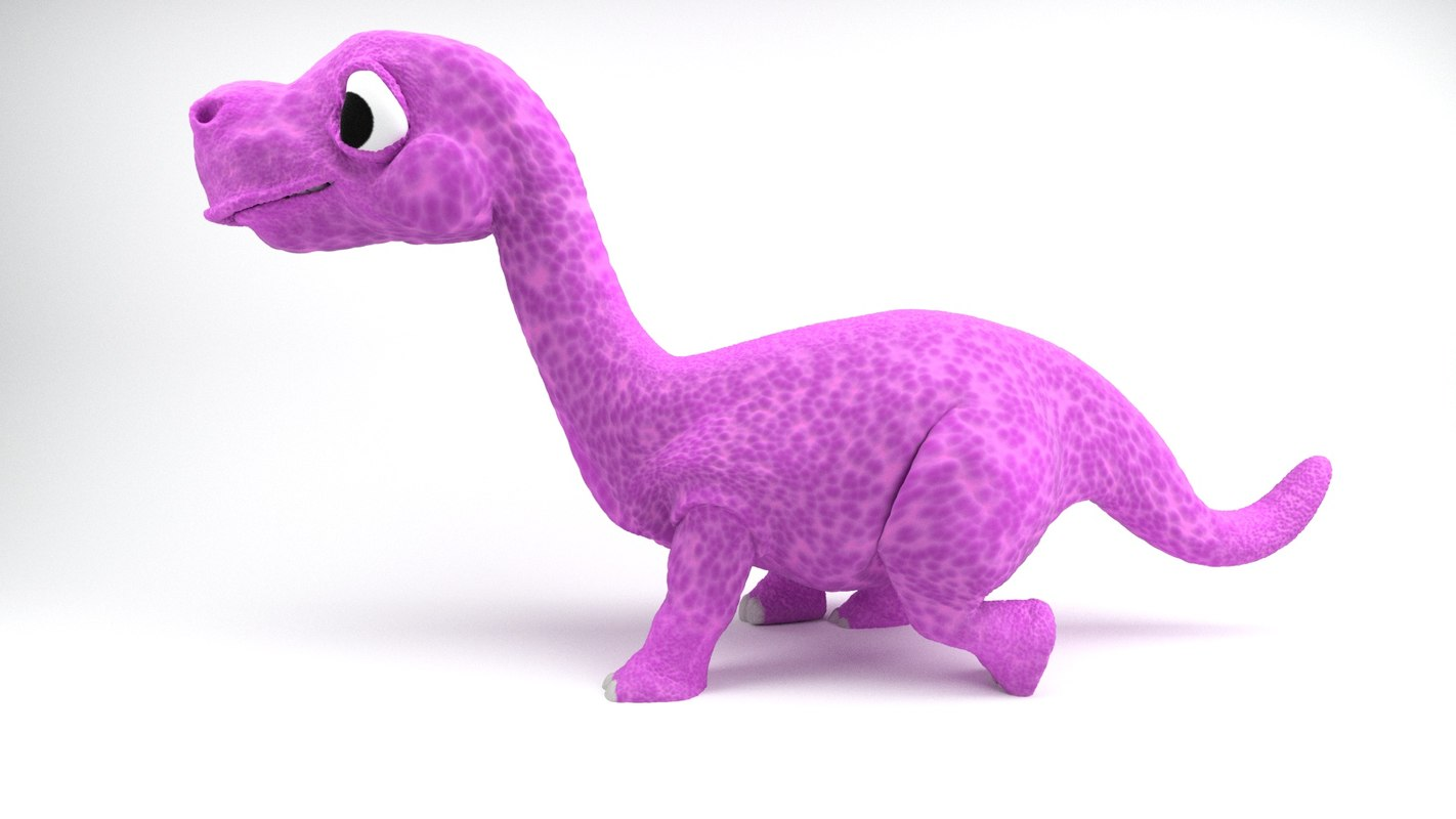 rigged cartoon dinosaurs 3D