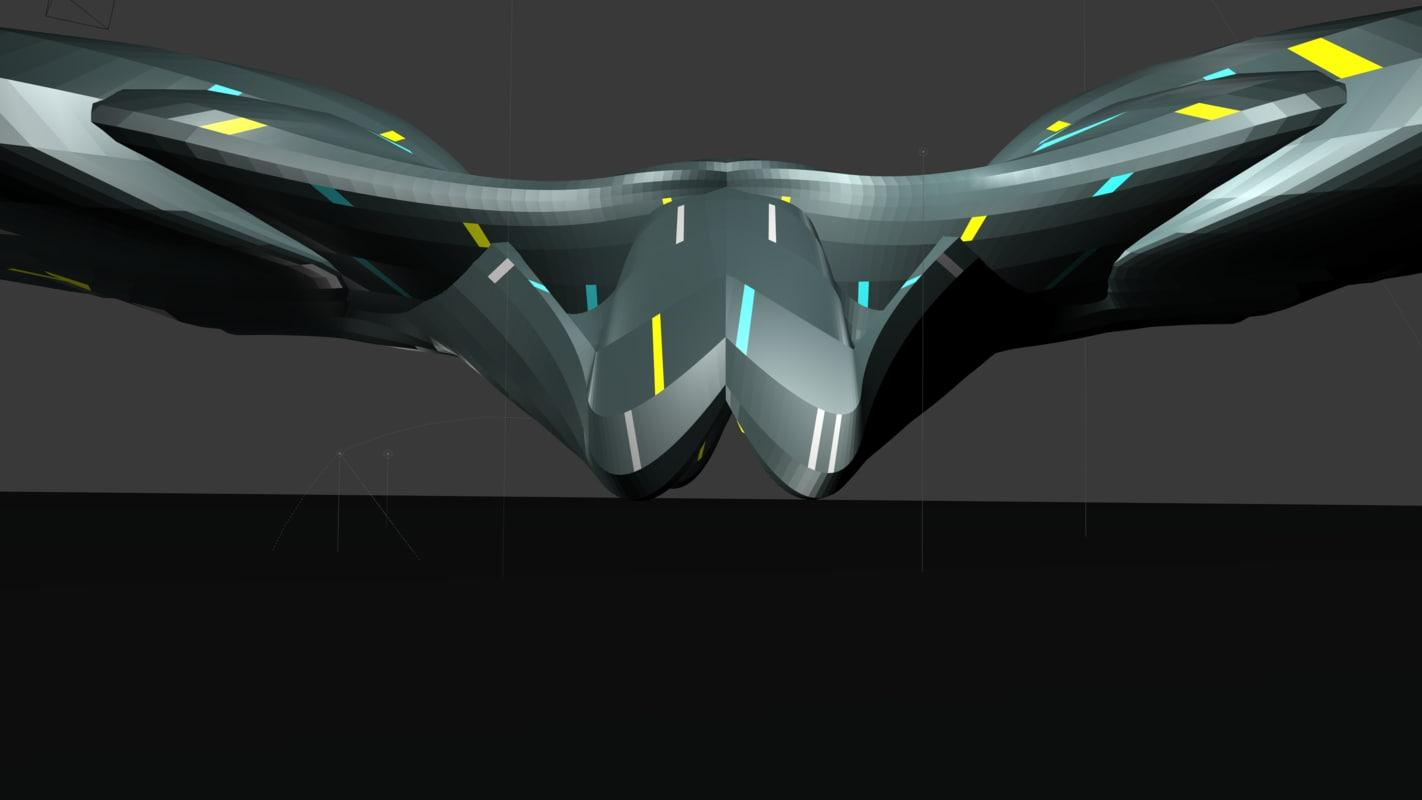 spaceship 2 3D model