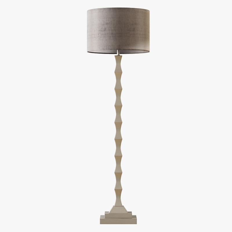 3D currey lyndhurst floor lamp
