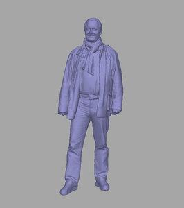 scanned background 3D model