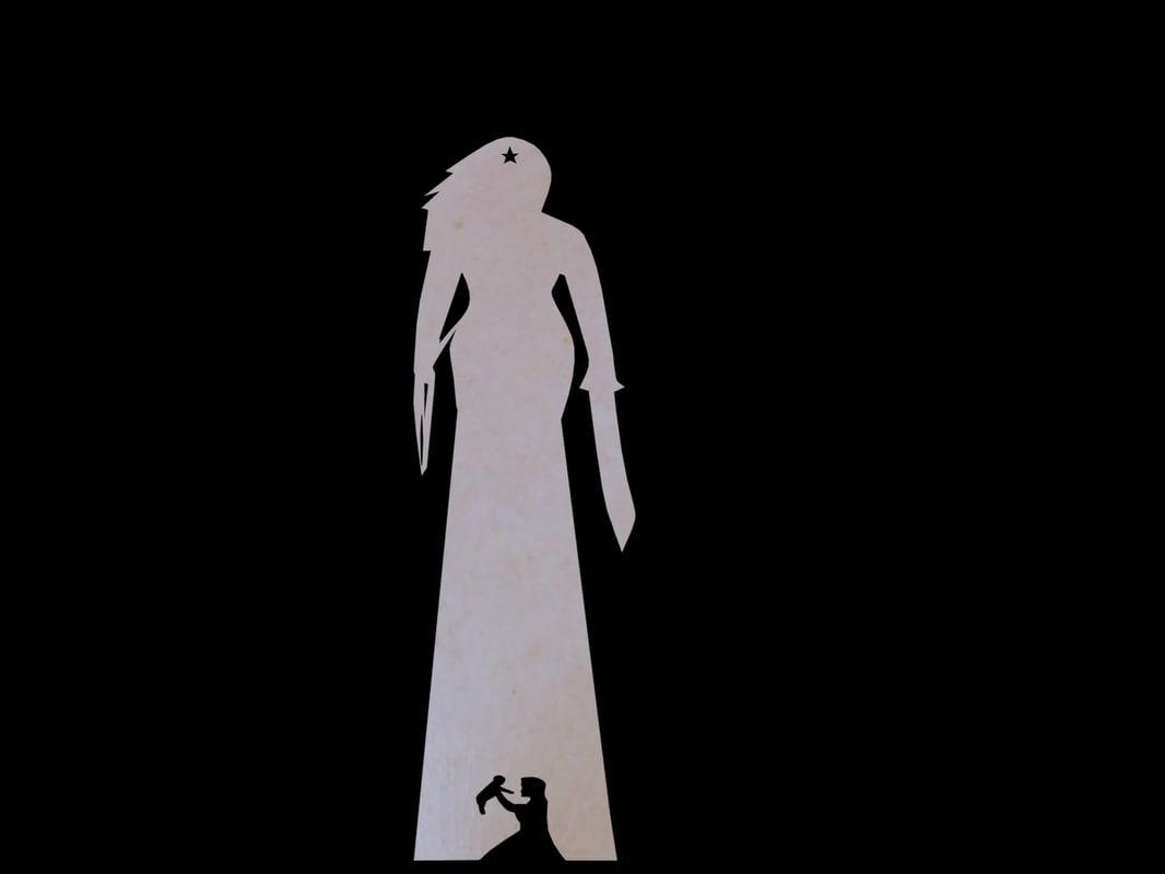 wonder woman keychain pendant 3D model