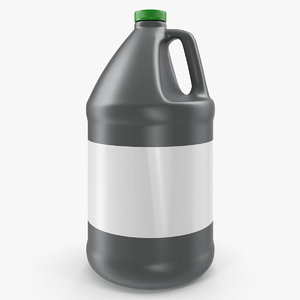 3D 1 gallon industrial plastic