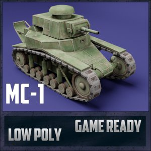 mc-1 tank ussr toon model