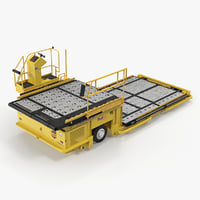 Aircraft Ground Support Lower Deck Loader Yellow