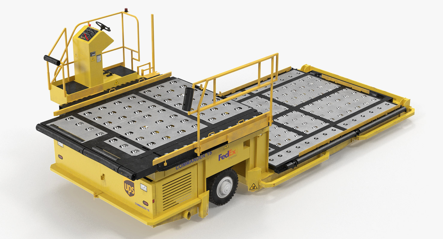 3D model aircraft ground support lower