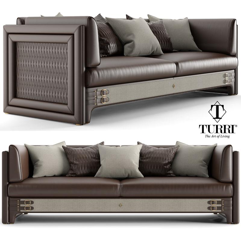 turri numero tre sofa 3D model