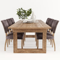 dining table causeway 3D