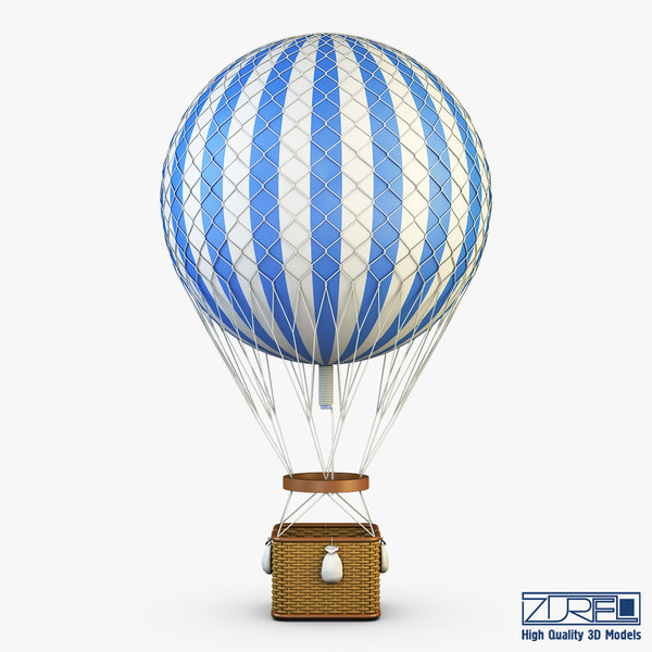 hot air balloon v 3D model