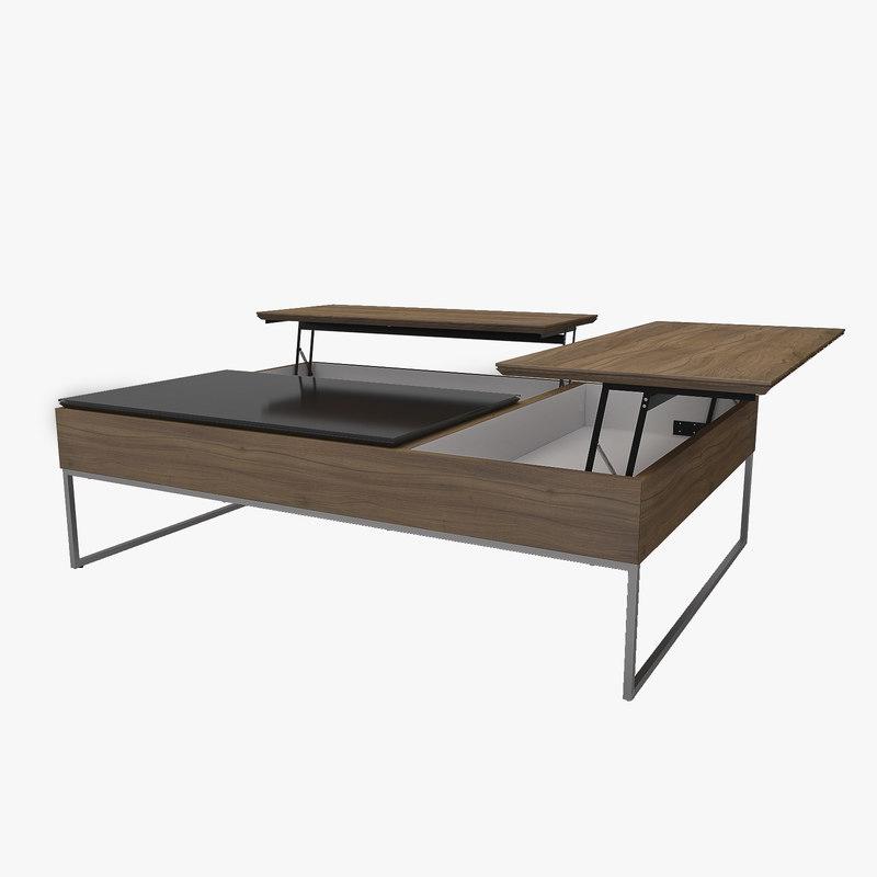3D coffee table fabric boconcept