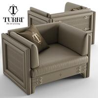 turri numero tre armchair 3D model