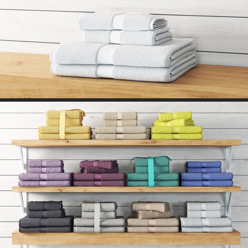 3D towels model