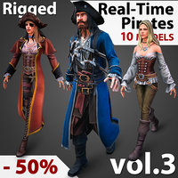 Real-Time Rigged Pirates Collection Vol. 3