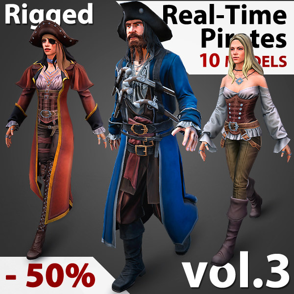 pirates real-time 3D model