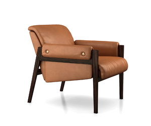 3D stanton leather chair west model