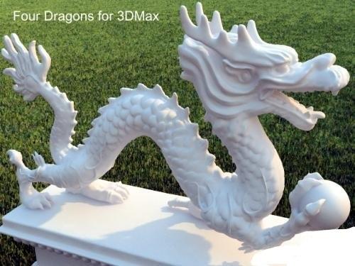 dragon china stl model