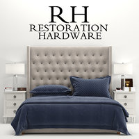 RH Adler Tufted Fabric Bed