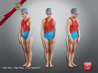 3D female swwimmingpool acc 2130 model