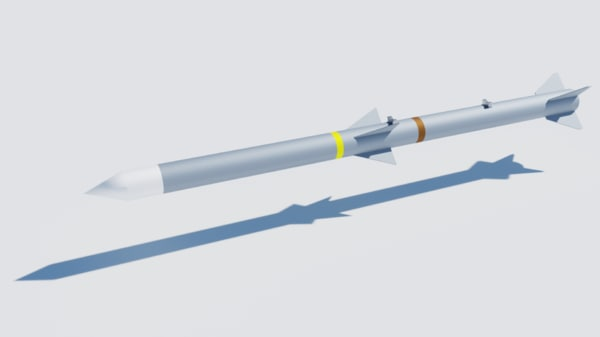 aim-120 amraam missile 3D model