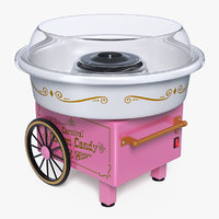 Carnival Cotton Candy Maker 3D Model