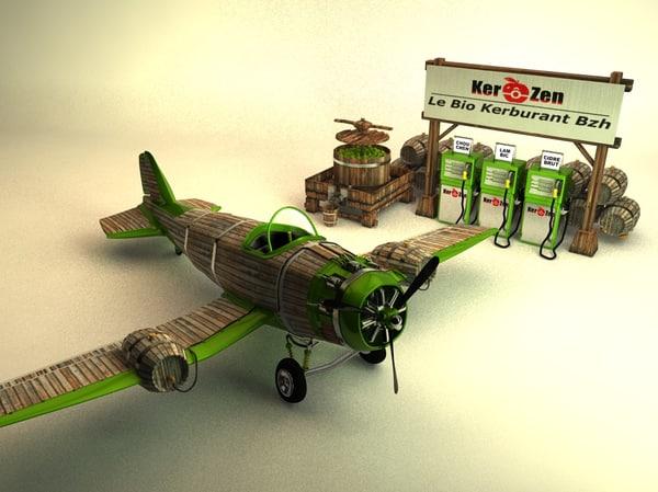 organic plane 3D