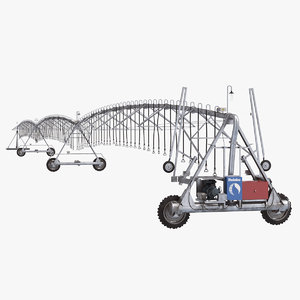 center pivot irrigation 3D model