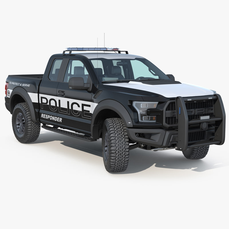 3D f-150 raptor police interceptor model