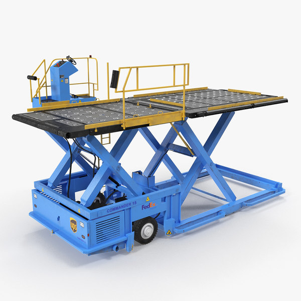 lower deck loader commander 3D model