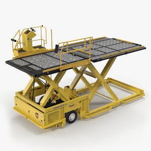 lower deck loader yellow 3D model