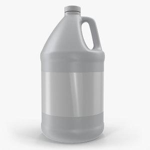 3D plastic jug 1 gallon