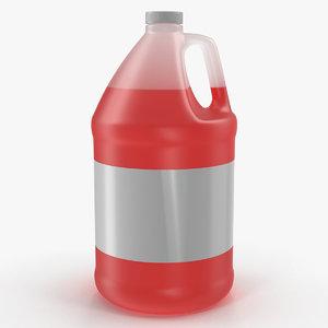 3D plastic red juice jug