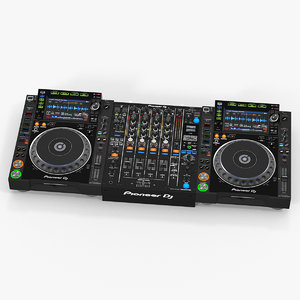 professional dj media player 3D model
