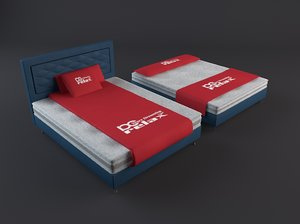 beds matress pillows 3D model