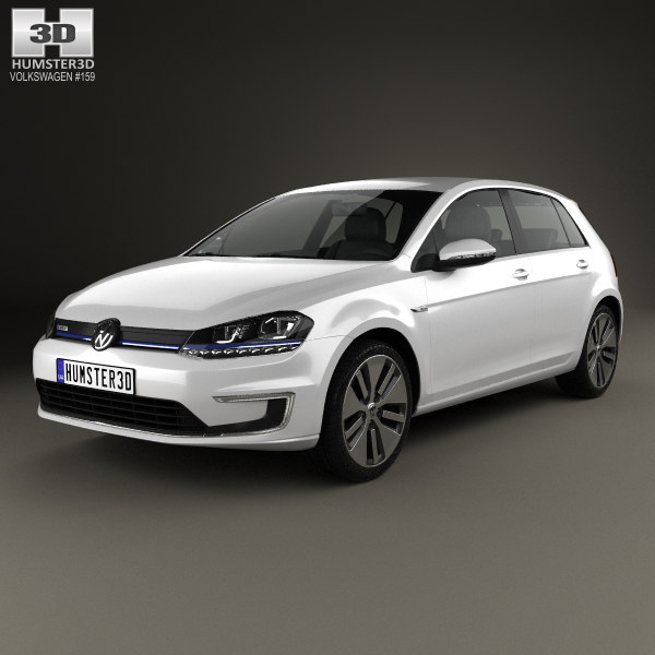 golf volkswagen e-golf 3D model