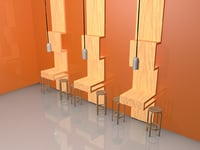 restaurant wall table 3D model