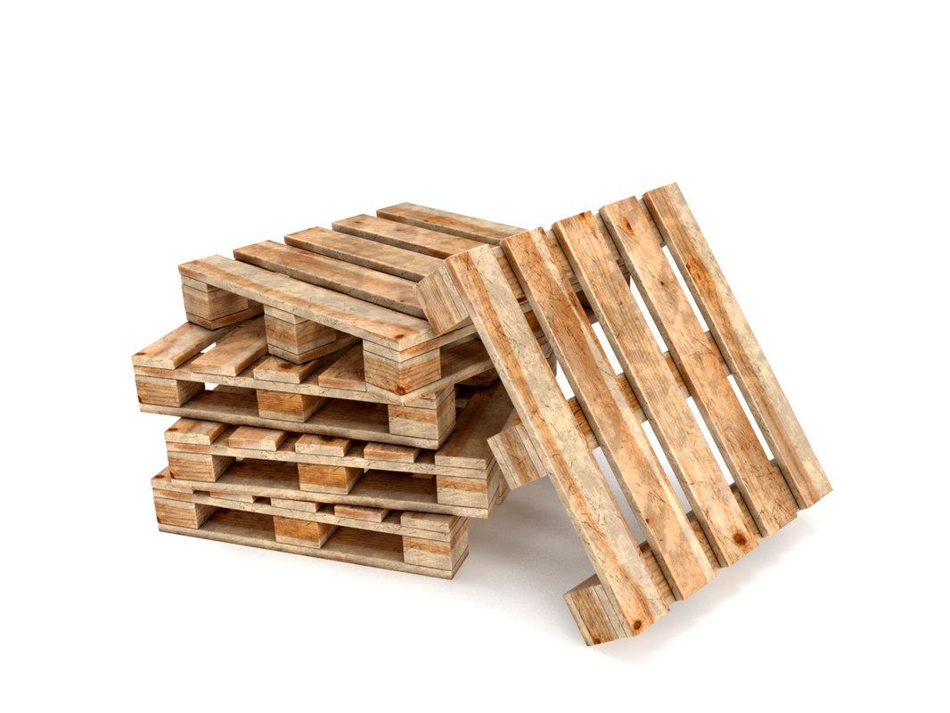 3D wood pallets