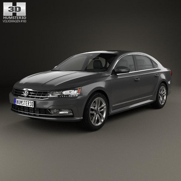volkswagen passat nms 3D model