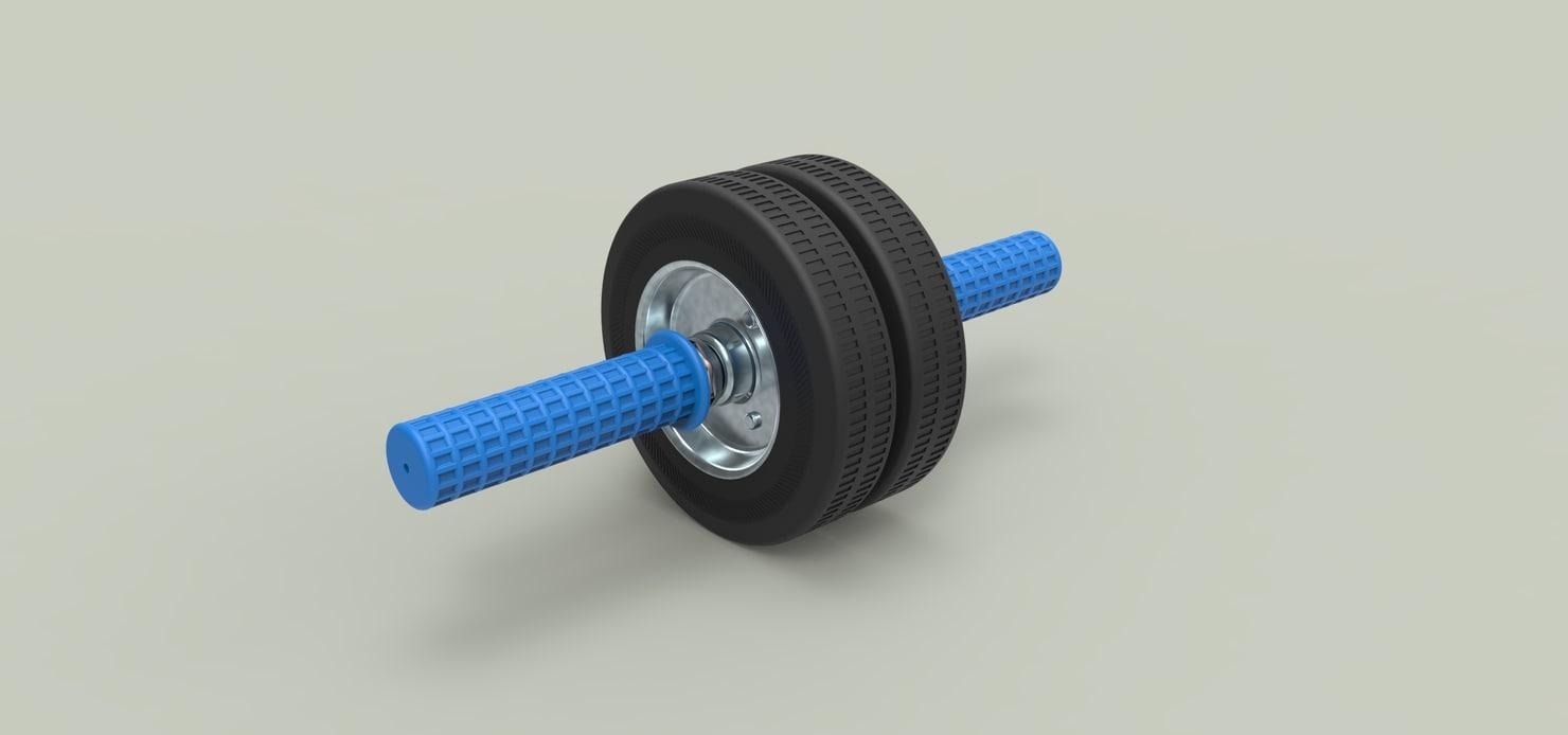 3D gymnastic roller wheel