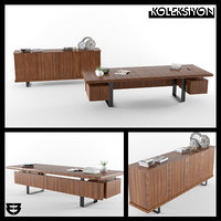 koleksiyon furniture gazel office table 3D model