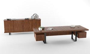 koleksiyon furniture gazel office table 3D model