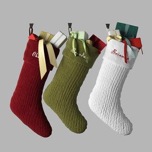 3D christmas stocking model