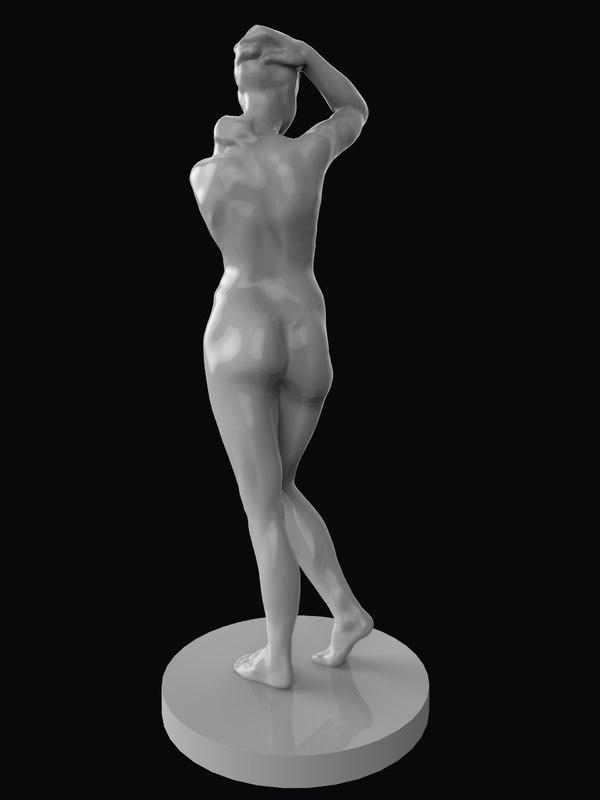 sculpture standing woman 3D model