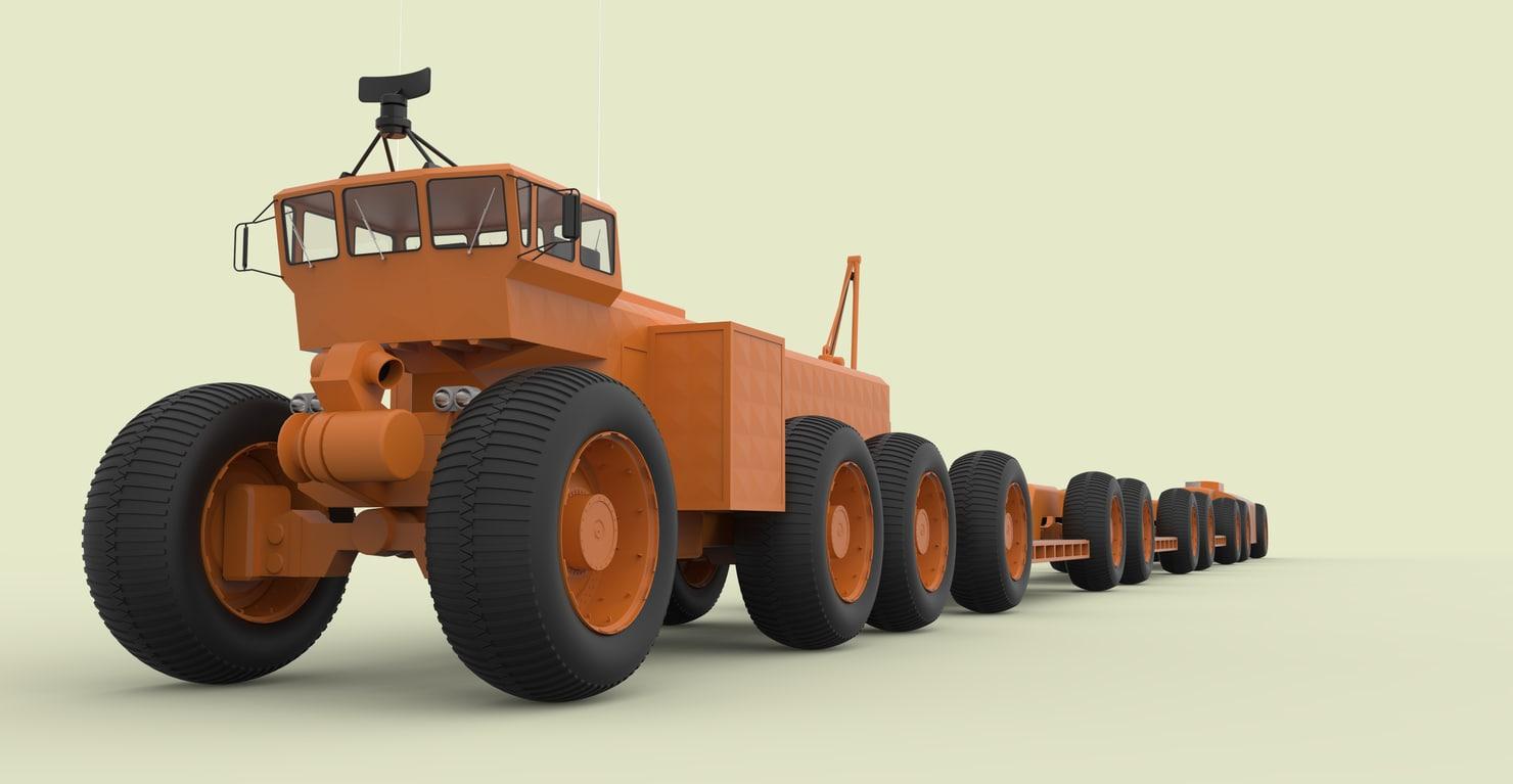 overland trains mark ii 3D model