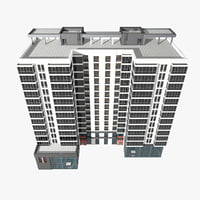 apartment building offices 3D