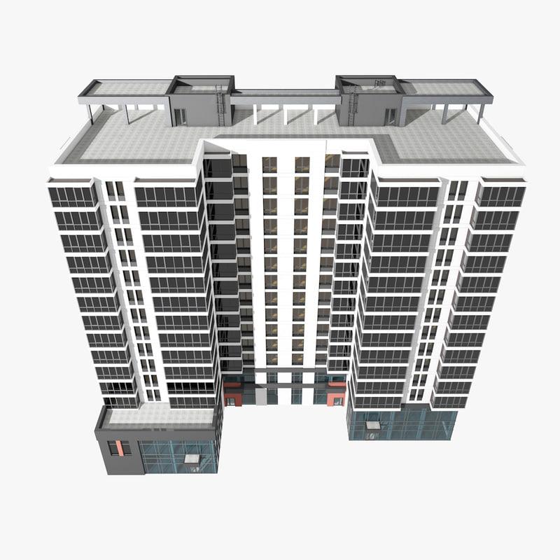 apartment building offices 3D